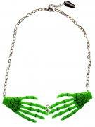 Vous aimerez aussi : Collier chaîne pendentif squelette vert mains