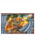 Vous aimerez aussi : Décoration murale massacre à la tronçonneuse 96x156cm Halloween