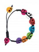 Bracelet multicolore Dia de los muertos