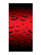 Décoration murale sanglante chauve-souris Halloween