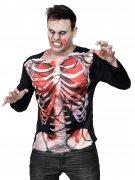 T-shirt zombie squelette Halloween