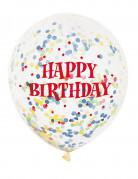 Vous aimerez aussi : 6 Ballons en latex transparent Happy Birthday 30 cm