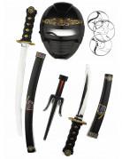 Kit accessoires armes et masque ninja enfant