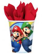 8 Gobelets en carton Super Mario ™ 266 ml