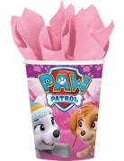 8 Gobelets en carton 266 ml rose Pat'Patrouille ™