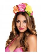 Serre-tête fleurs colorées femme