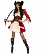 Déguisement pirate rouge sexy femme