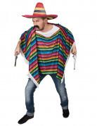 Vous aimerez aussi : Poncho de Mexicain multicolore à franges adulte