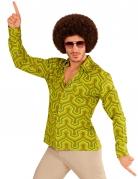 Chemise groovy vert années 70 homme