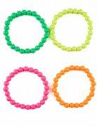Bracelets lot de 4 multicolores adulte