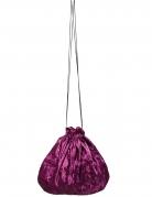Sacoche velours violet 27 cm