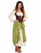 Déguisement tavernière verte femme