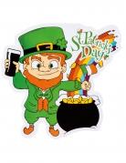 Décoration chaudron multicolore Saint Patrick 30 x 29 cm