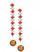 2 Décorations à suspendre chevaliers 60 cm