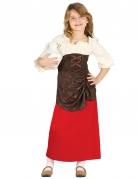 Déguisement tavernière médiévale fille