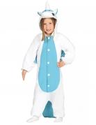 Combinaison licorne blanche et bleue enfant