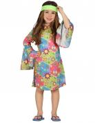 Déguisement hippie avec symboles colorés fille