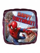 Ballon aluminium carré Spider-man ™ Happy Birthday43 cm
