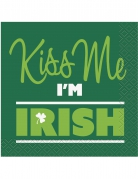 16 Petites serviettes Kiss Me I'm Irish 25 x 25 cm