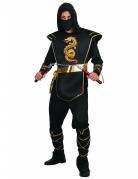Déguisement ninja noir et doré homme