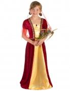 Déguisement comtesse médiévale rouge fille