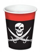 8 Gobelets en carton Pirate 260 ml