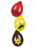 6 Ballons Western Wild West 25 cm