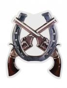 Décoration murale pistolets Western Wild West 47 X 40 cm