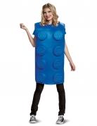 Déguisement brique Lego® bleue adulte