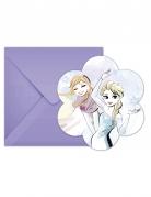 6 Cartons d'invitation + enveloppes La Reine des Neiges™