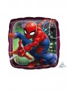 Petit ballon carré aluminium Spiderman™ 23 cm