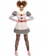 Déguisement creepy clown femme