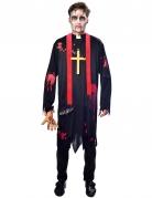 Déguisement prêtre zombie homme