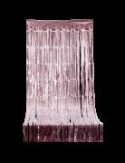 Rideau scintillant à franges rose gold 2,44 m x 92 cm