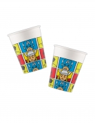 8 Gobelets en carton Avengers™ pop comic 260 ml