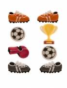 8 Mini figurines en sucre Football 9 g