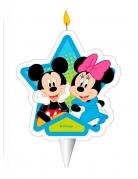 Bougie d'anniversaire Mickey et Minnie™ 7,5 cm