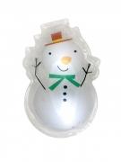 Sticker led bonhomme de neige 15,5 x 12 cm