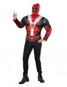 T-shirt avec muscles et cagoule Deadpool™ adulte