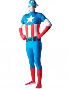 Déguisement seconde peau Captain America™ adulte