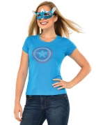 T-shirt à strass et masque American Dream Captain America™ femme