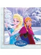 20 Serviettes en papier La Reine des Neiges hiver™ 33x33 cm