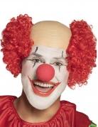 Perruque clown crâne nu rouge homme