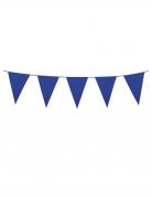 Guirlande à mini fanions bleu foncé 3 m