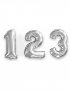 Ballon aluminium chiffre argent 33 cm