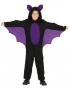 Déguisement combinaison chauve-souris noir et violet garçon