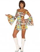 Déguisement robe disco géométrique femme