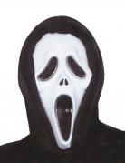 Masque noir et blanc en plastique tueur psycopathe adulte