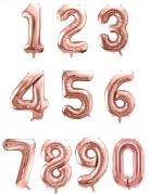 Ballon aluminium chiffre rose gold 85 cm