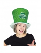 Haut de forme happy St Patrick's day vert adulte